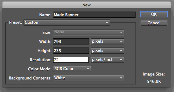 What is Standard Banner Size?