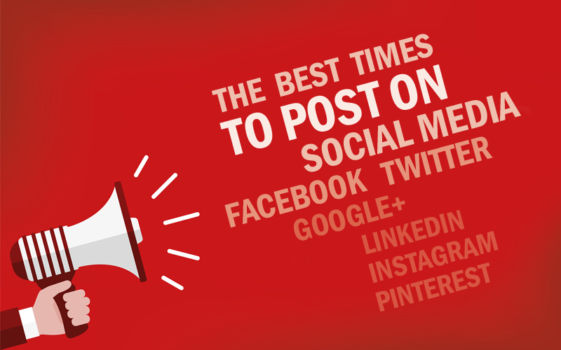 The Best Times To Post on Social Media: Facebook, Twitter, Google+, LinkedIn, Instagram, Pinterest