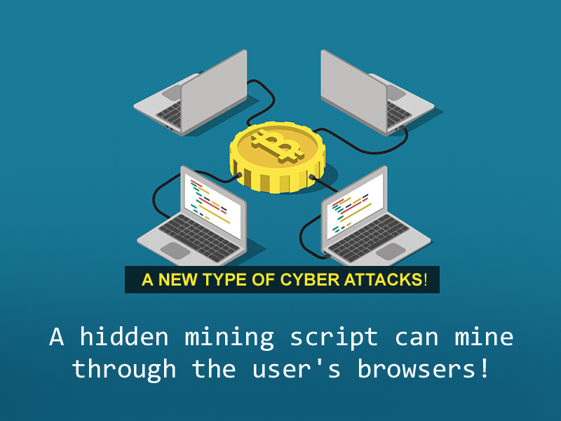 A new type of cyber attacks! A hidden mining script can mine through the user's browsers.